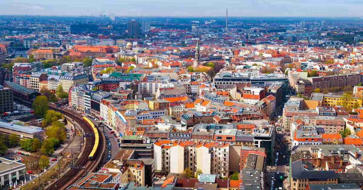 12 Bezirke in Berlin in Deutschland