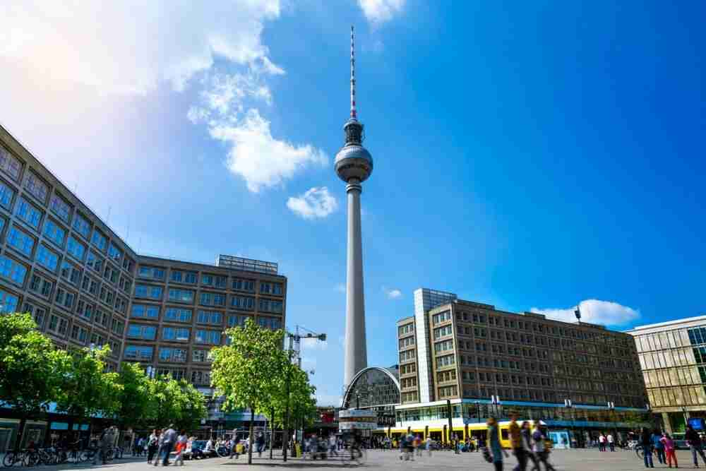 Berliner Fernsehturm in Berlin in Deutschland