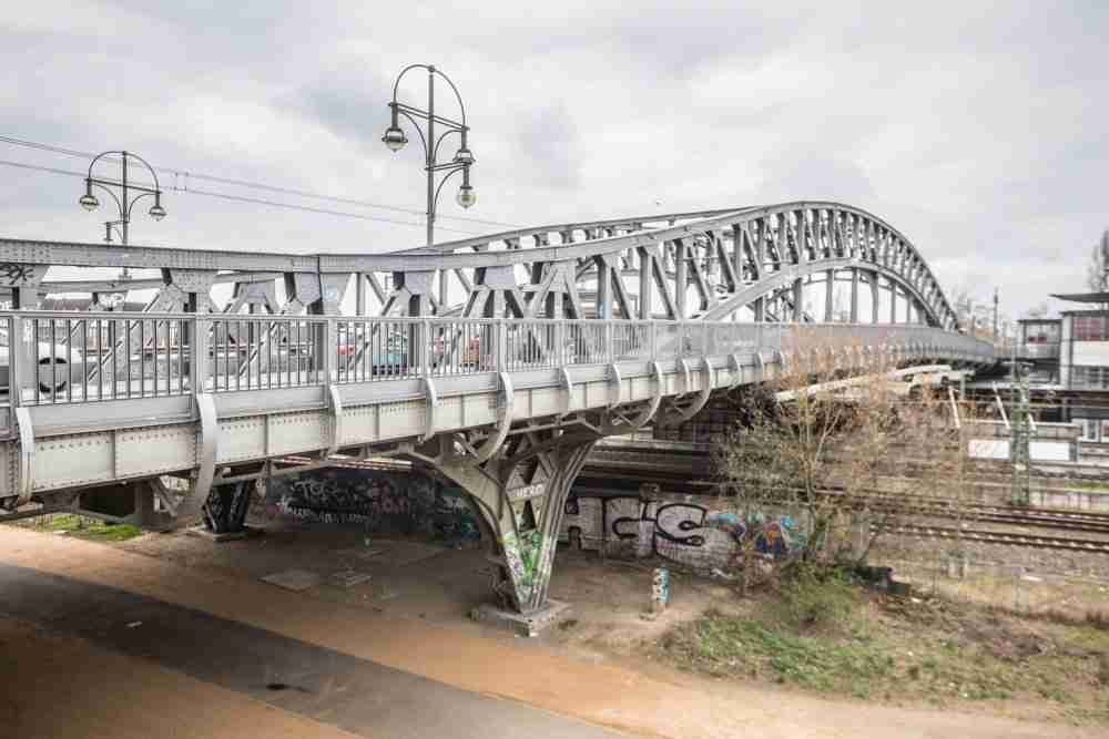 Bornholmer Strasse Bösebrücke in Berlin in Deutschland