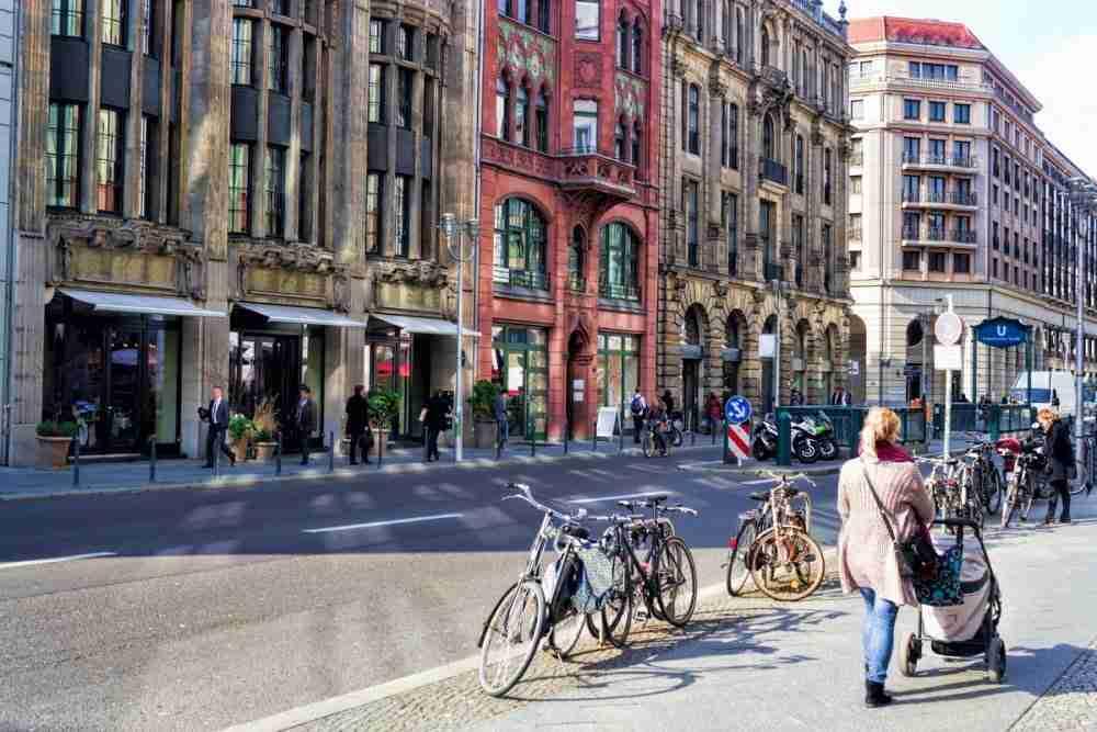Friedrichstraße in Berlin in Deutschland