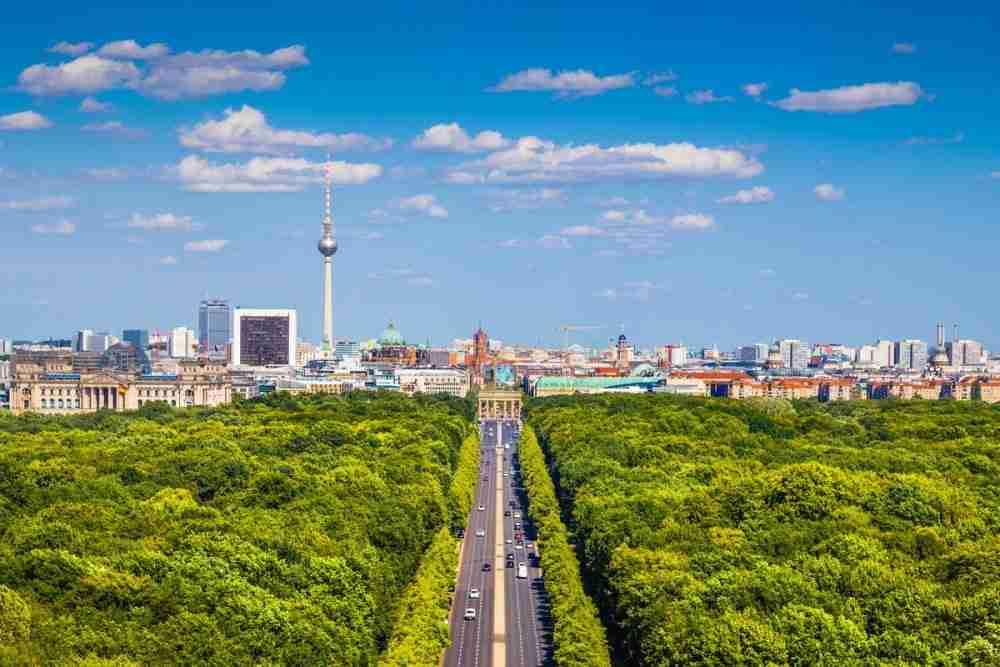 Großer Tiergarten in Berlin in Deutschland