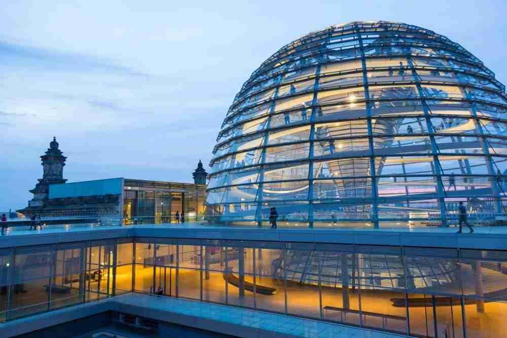 Kuppel des Reichstags in Berlin in Deutschland