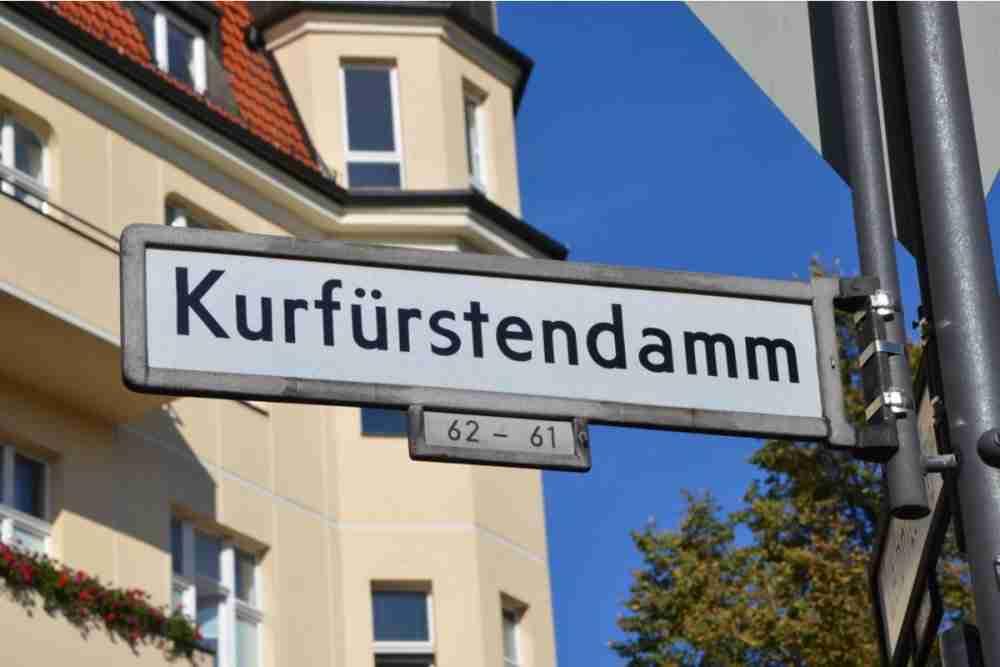 Kurfürstendamm in Berlin in Deutschland