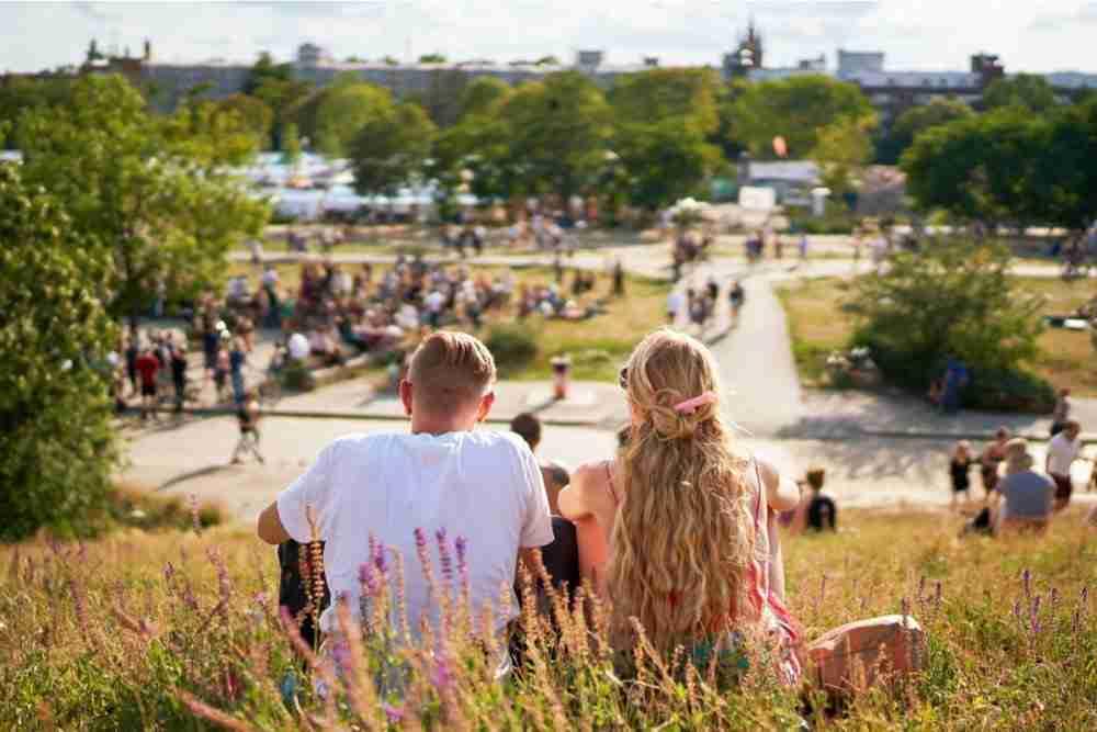 Mauerpark in Berlin in Deutschland