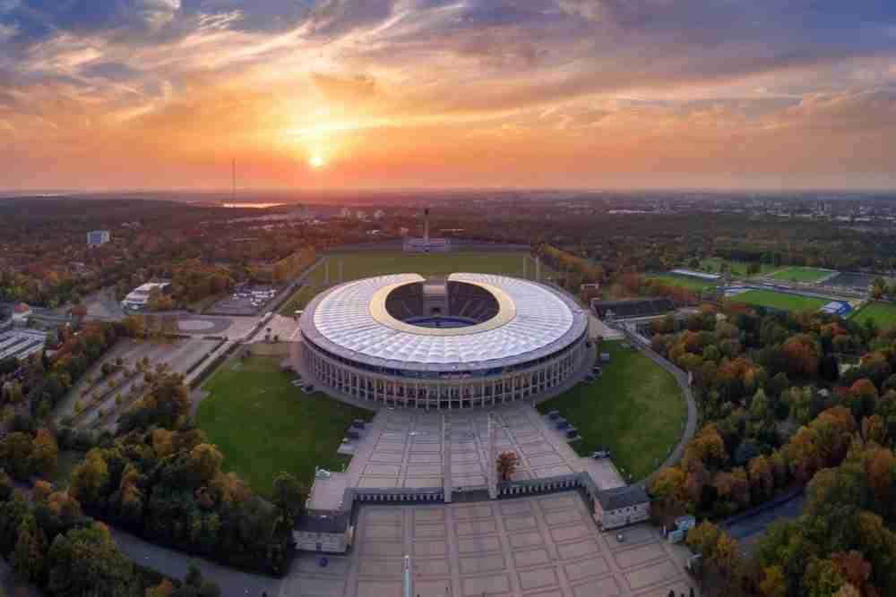 Olympiapark und Olympiastadion in Berlin in Deutschland