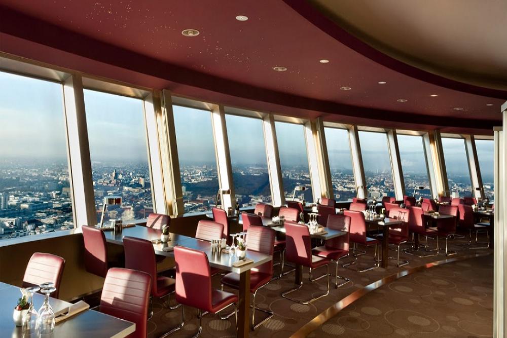 Sphere revolving restaurant in the Berlin TV tower in Deutschland