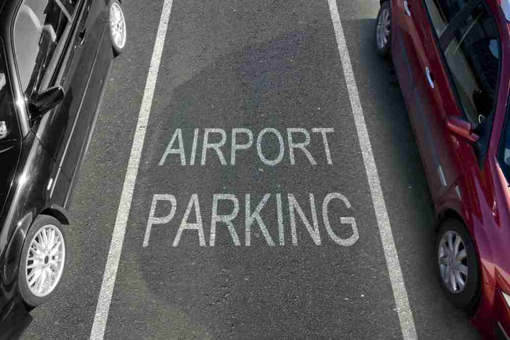 Parking at the airport in berlin in deutschland