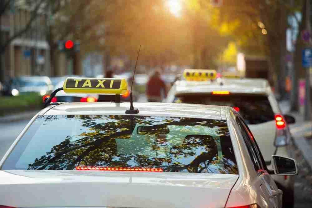 Taxi in Berlin in Deutschland